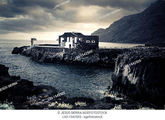 Smallest Hotel of the world, Las Puntas, El Golfo, El Hierro, Canary Island, Spain, Europe