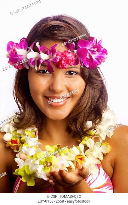portrait of a Hawaiian girl