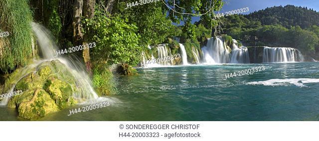 Waterfall in th national park Krka
