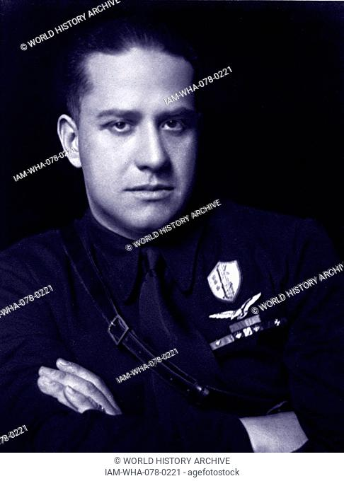 Count Gian Galeazzo Ciano, (1903 – 11 January 1944), Foreign Minister of Fascist Italy from 1936 until 1943 and Benito Mussolini's son-in-law