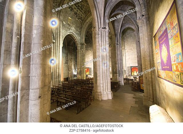 Church indoor of the Abbey of Saint Victor (founded in V c., current view since 1200). Named after Saint Victor of Marseilles on September 23, 2016 in France