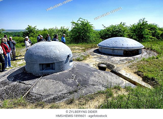 France, Meurthe et Moselle, Montigny sur Chiers, Maginot Line, Fermont large artillery work, armored cloche and retractable turret