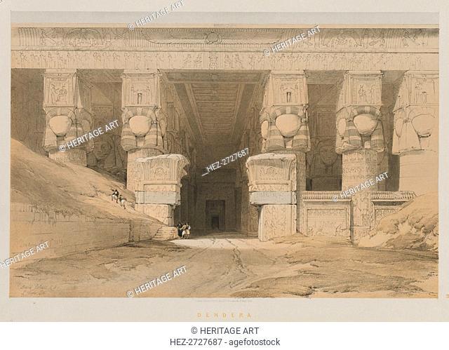 Egypt and Nubia, Volume I: Dendera, 1847. Creator: Louis Haghe (British, 1806-1885); F.G. Moon, 20 Threadneedle Street, London