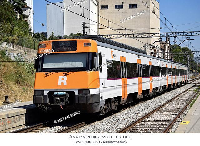 Subway train, Mollet del Valles, Spain