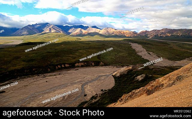 Panorama des Denali Nationalpark in Alaska