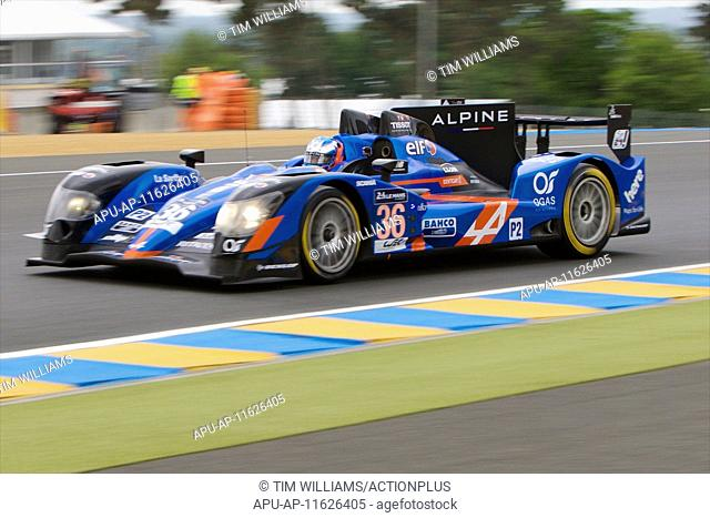 2015 Le Mans 24 Hours Test Day May 31st. 31.05.2015. Le Mans, France. Le Mans 24 hours official test day. Signatech Alpine Apline A450B Nissan LMP2 driven by...