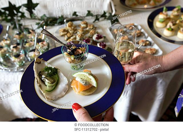 Mini appetisers on a plate