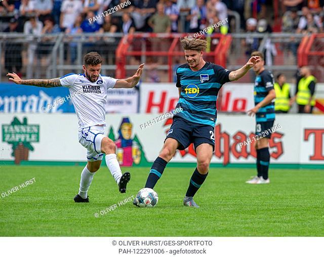 Marco Djuricin (KSC) (left) versus right Florian Baak (Hertha BSC) GES / football / KSC blitz tournament: Karlsruher SC - Hertha BSC Berlin, 13.07
