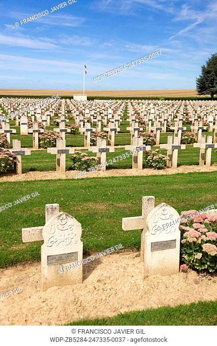 Cemetery of Vauxbuin, Picardie, France