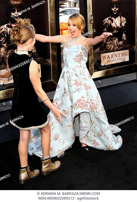 Los Angeles premiere of 'Annabelle: Creation' held at the TCL Chinese Theatre - Arrivals Featuring: Lulu Wilson, Talitha Bateman Where: Los Angeles, California