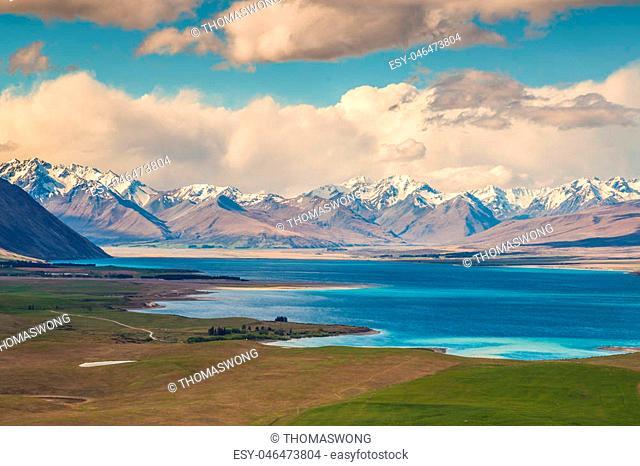 Lake Tekapo view from Mt John, South Island, New Zealand