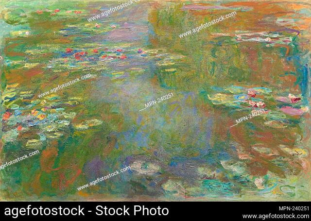 Water Lily Pond - 1917/19 - Claude Monet French, 1840-1926 - Artist: Claude Monet, Origin: France, Date: 1917-1926, Medium: Oil on canvas, Dimensions: 130