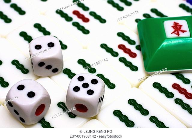 Mahjong - asian game with dices