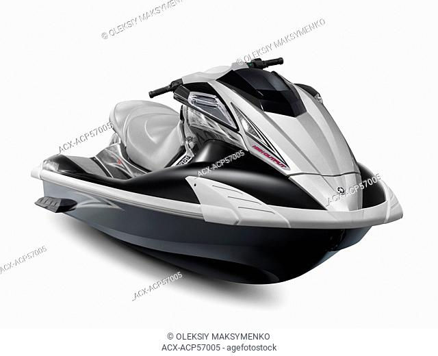 2010 Yamaha WaveRunner FX HO jetski isolated on white background