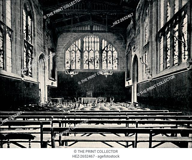'St. Mary's Hall, Coventry', 1903. St. Mary's Hall is a guildhall built in Coventry, Warwickshire, England, first built 1340-42 and much altered and extended...