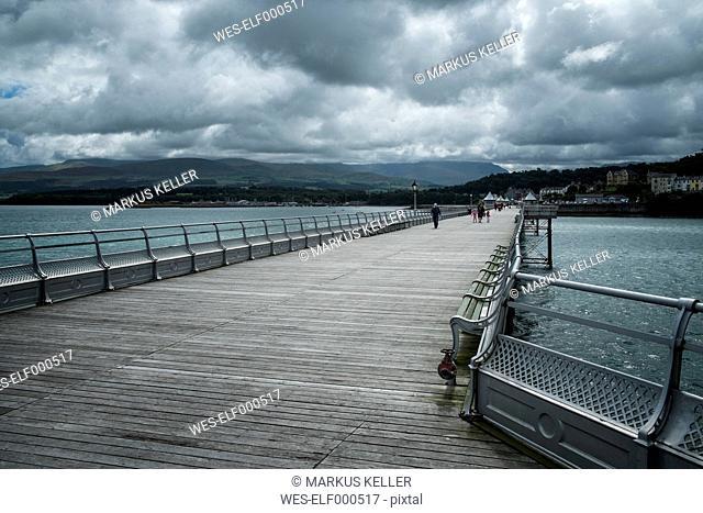 Great Britain, Wales, Gwynedd, Bangor, Pier