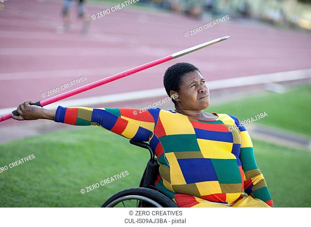Wheelchair javelin thrower