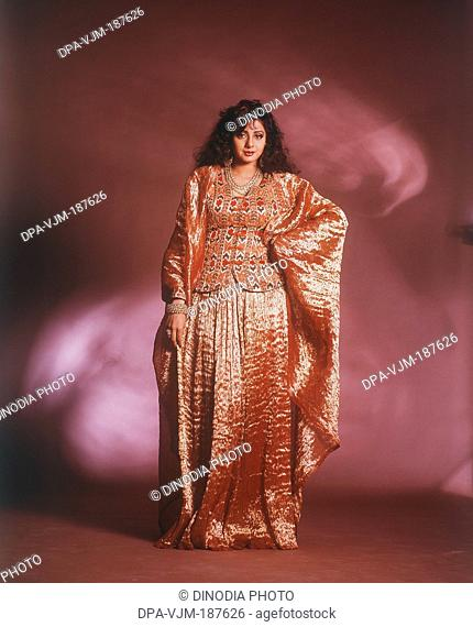 1990, Portrait of Indian film actress Sridevi