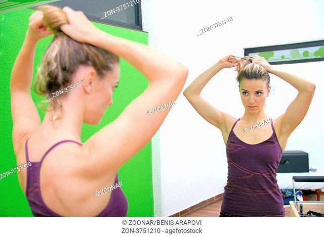 girl in fitness studio