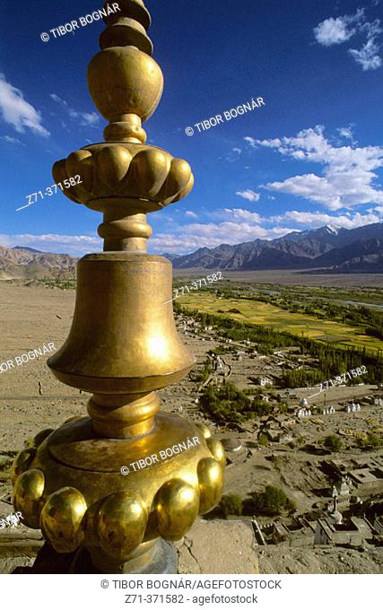 View from Tikse Gompa. Ladakh. Jammu and Kashmir. India