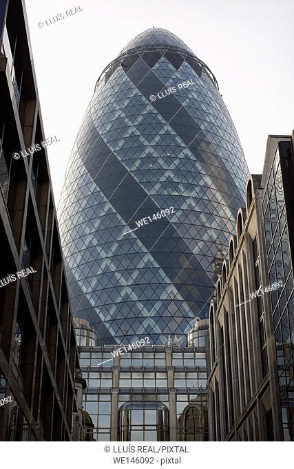 Swiss Re headquarters, 30 St Mary Axe, London. England, UK