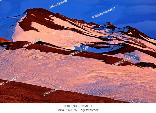 Iceland, Iceland, north-east, ring road, region of Myvatn, morning mood in the Hildarfjall close Reykjahlio