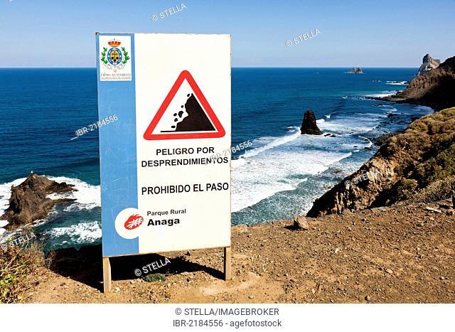 Coast near Taganana and Benijo, Anaga Mountains, Anaga, northeastern Tenerife, Canary Islands, Spain, Europe