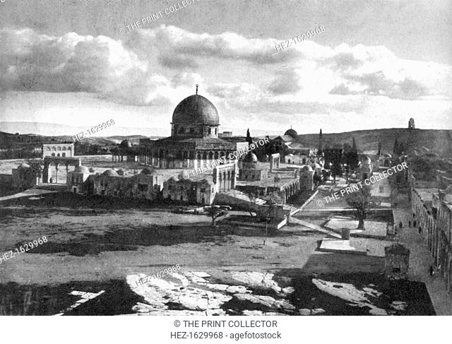 The Mosque of Omar on the site of the ancient temple, Bethlehem, Israel, 1926. From An Outline of Christianity, The Story of Our Civilisation
