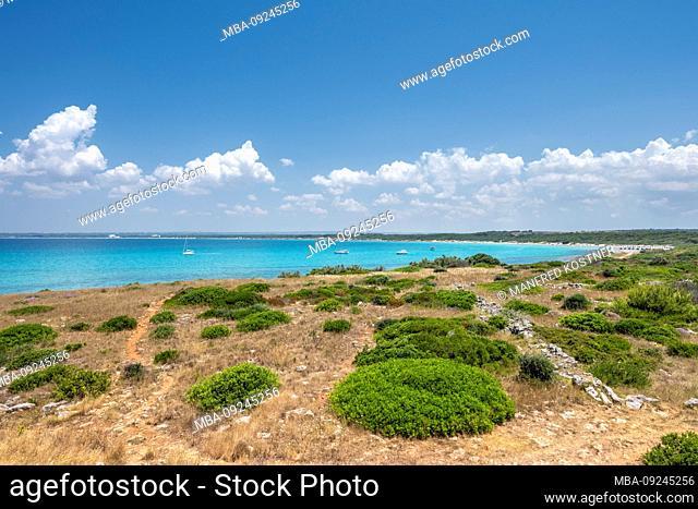 Punta Pizzo, Gallipoli, Salento, Puglia, Italy, Europe. On the beach of Punta Pizzo near Gallipoli