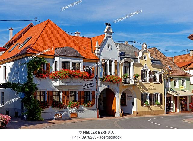 Europe, Germany, Europe, Rhineland-Palatinate, Maikammer, Weinstrasse, wine route, vineyards, street view, architecture, building, historical, place of interest