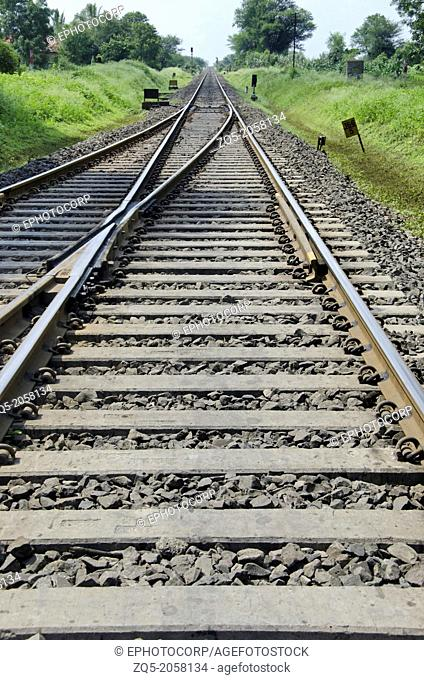 Railway track, Rahimatpur, Maharashtra, India