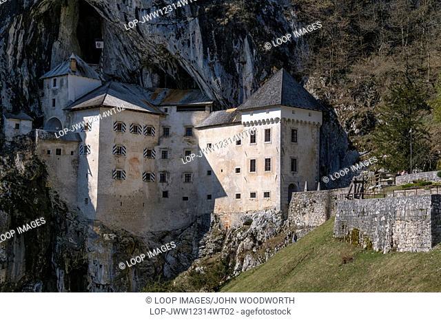 The 12th century Gothic style Predjama Castle known locally as Predjamski Grad