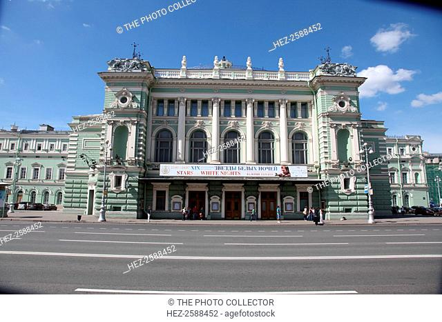 Mariinsky Theatre, St Petersburg, Russia, 2011. Opened in 1860, the Mariinsky Theatre became the principal venue for classical music