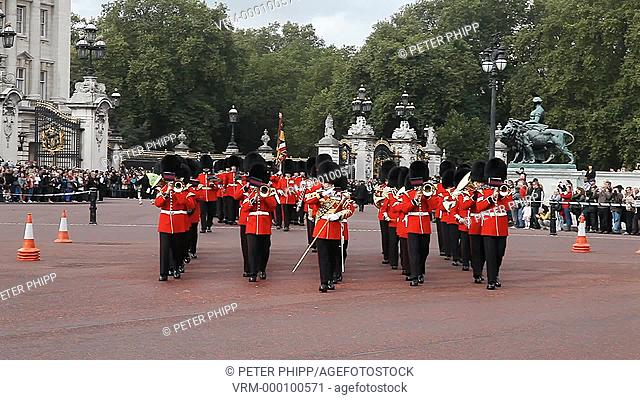 Grenadier Guards Band at the 'Changing of the Guard' ceremony at Buckingham Place in London