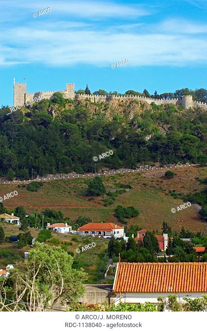Sesimbra Castle, Sesimbra, Setubal district, Serra de Arrabida, Lisbon coast, Portugal, Europe