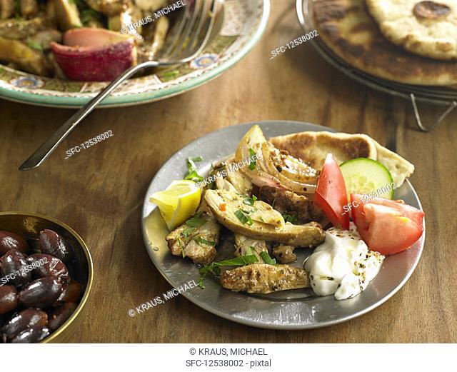 Oven-Roasted Chicken Shawarma