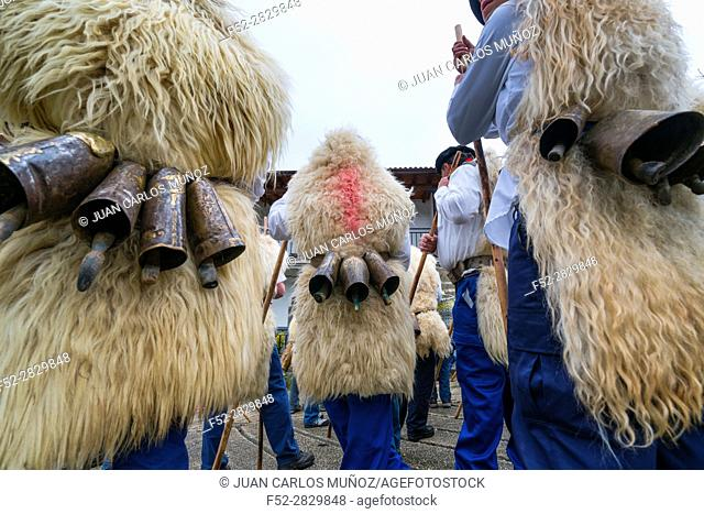 """""""Las Marzas"""" (traditional songs celebrating the arrival of spring), Soba Valley, Cantabria, Spain, Europe"""