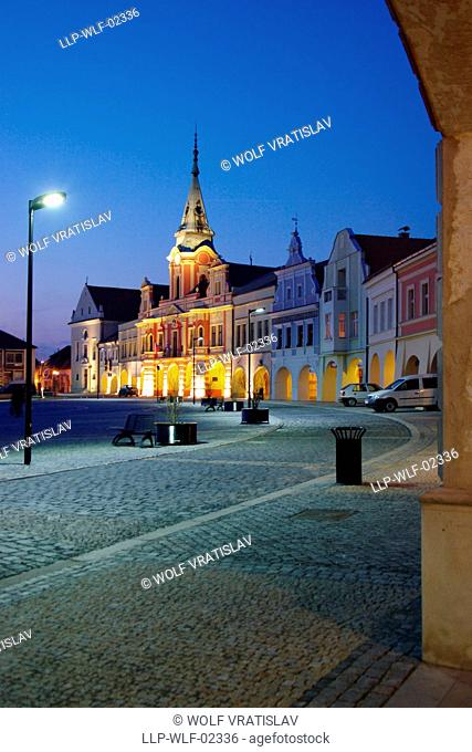 Melnik Main Square, Central Bohemia, Czech Republic