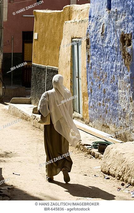 Streetlife in the Nubian village Koti, Elephantine Island, Aswan or Assuan, Nile Valley, Egypt, Africa