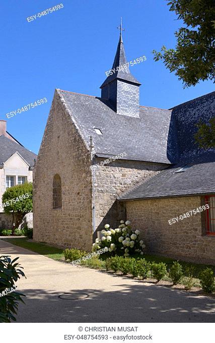 Chapel of Sainte Anne of Le Pouliguen, a commune in the Loire-Atlantique department in western France. Le Pouliguen is a seaside resort on the famous Côte...