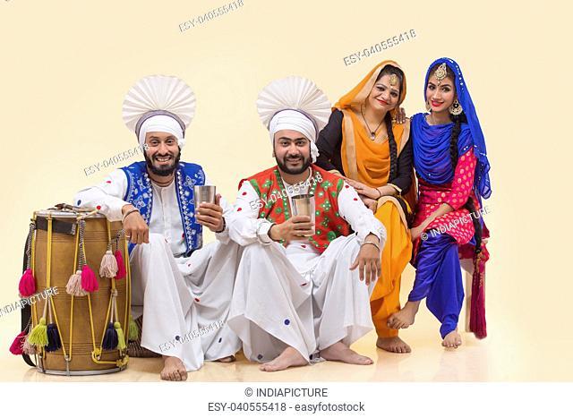 Sikh People Posing