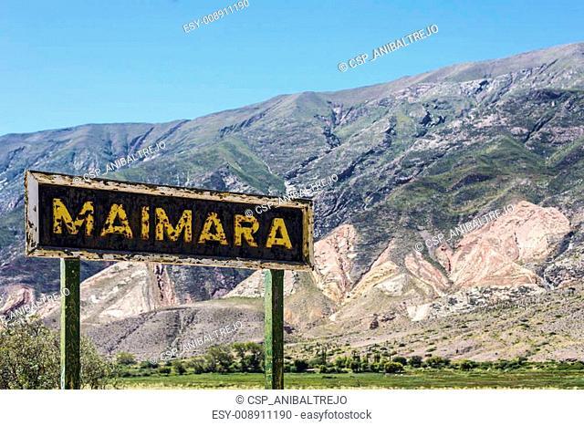 Maimara on Quebrada de Humahuaca in, Argentina