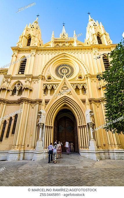 The church of the Sagrado Corazón - Sacred Heart is located in the Plaza de San Ignacio de Loyola in the historic center of Málaga