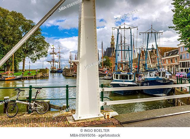The Netherlands, Hoorn, harbour, tower, Hoofdtoren