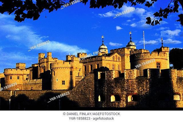 The Tower of London  in London UK  in the warm light of a late Summer evening