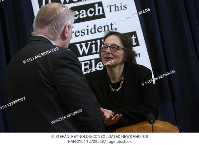 Constitutional law expert Pamela Karlan, of Stanford University speaks to United States Representative F. James Sensenbrenner (Republican of Wisconsin) prior to...