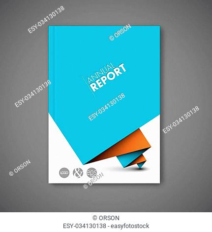 Modern Vector abstract brochure / book / flyer design template with red and blue paper