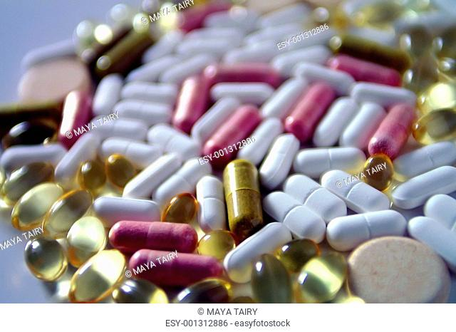 medical pills and vitamins