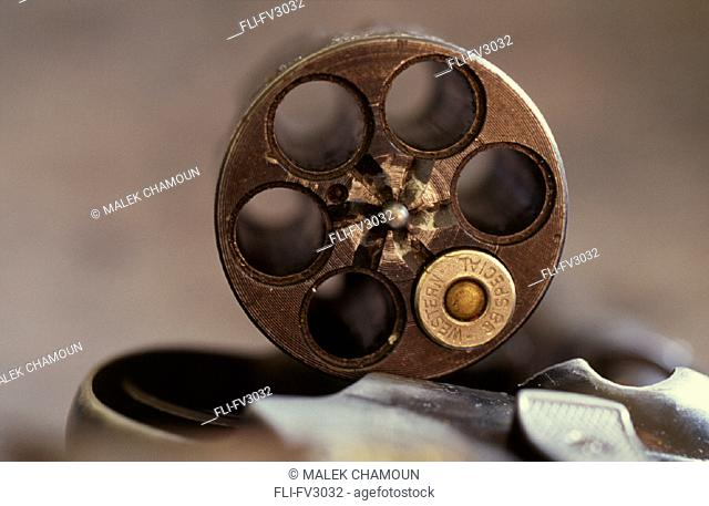 Chamber of Gun with one Bullet