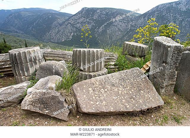greece, delphi, archeological area